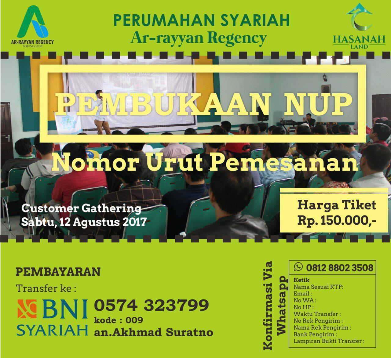 Gathering Arrayyan Regency Bojong gede Bogor - 100% Syariah