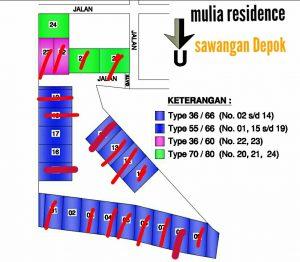 site plan mulia residence depok
