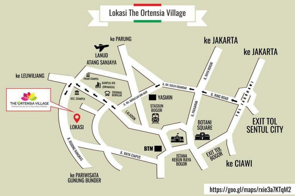 rute menuju the ortensia village
