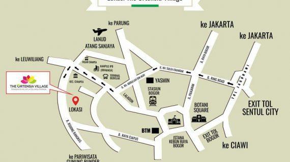 Rute Menuju The Ortensia Village Bogor